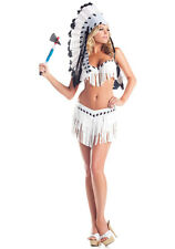 BeWicked 1409 White Black Chief Indian Princess Costume