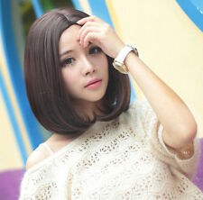 Fashion New Lady Short Straight Hair Brown/Black No Bangs Cosplay Party Wigs