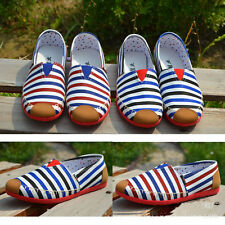 Women's PLIMSOLES SLIP ON PUMPS TRAINERS ESPADRILLES SHOES CANVAS US Size6.5-8.5