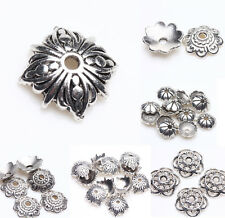 Stylishy Tibet Silver Metal Loose Spacer Bead Flower Caps DIY Jewelry Finding