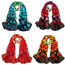 Women Chiffon Scarf Soft Shawl Beautiful Pashmina Wrap Polka Dot Girls Stole