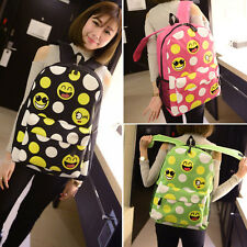 Women Kid Emoji Backpack Book School Bag Smiley Girl Rucksack Schoolbag Day Pack
