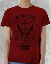 Motley Crue Final Tour Classic Rock Band Music Crew Red Mens T Tee Shirt S-2Xl