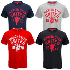 Manchester United Football Club Official Soccer Gift Mens Devil T-Shirt