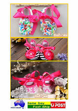Cute SOFT BABY GIRLS  COTTON NON-SLIP BOOTIES SHOES SLIPPERS NEWBORN0-12MONTH