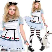 Kids Girls Childs Alice in Wonderland Book Day Week Fancy Dress Costume Outfit