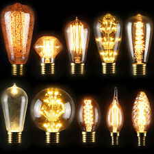 E27/E14 Vintage Retro Filament Edison LED Tungsten Light Bulb Antique Style Lamp