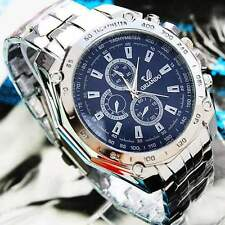 New Fashion Men's Stainless Steel Belt Sport Business Quartz Watch Wristwatches