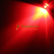 20 LEDs 0 3/16in (0 3/16in) FLAT TOP RED 1000MCD Flathead Red LED starwhead 3V -