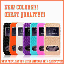 New Flip Leather View Window Skin Case Cover for Apple iPhone 6 & iPhone 6 Plus