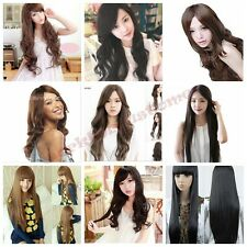 Sexy Women Long Curly Fancy Dress Wigs Cosplay Costume Ladies Full Wig Party+Cap