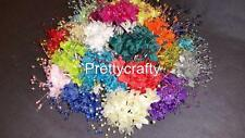 Pearl Effect Babies Breath Spray On Wire With Beads 12 Stems Wedding Bouquets