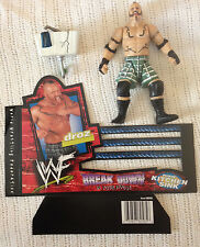 WWF WWE Droz Jakks Pacific Figure w Card & Kitchen Sink Grapple Gear Accessories