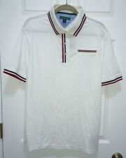 NEW Mens S M L XL TOMMY HILFIGER GOLF White Navy Blue Red S/S  Pique Polo Shirt