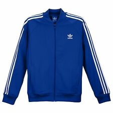 new mens S aDiDas superstar track top/jacket s12387 collegiate royal/white