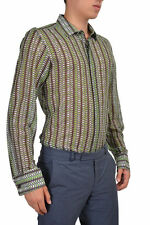 Just Cavalli Men's Silk Multi-Color Long Sleeve Casual Shirt US M L