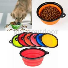Pet Dog Cat Collapsible Folding Silicone Bowl Travel Water Food Dish Feeder