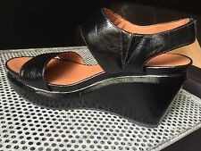 New $ 175 Size 7.5 Gentle Souls Juniper Barry Wedge Platform Patent Leather