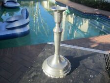 ANTIQUE EARLY 19TH CENTURY  2 PIECE THREADED CONTINENTAL 10-IN CANDLESTICK