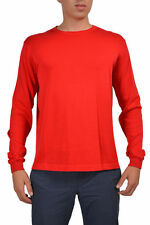 Malo Men's Red Crewneck Long Sleeve Sweater US L IT 52