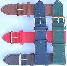 Genuine  Calf Leather Watch Strap Size 6mm-24mm Ladies Red Blue Tan Green ++