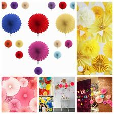 20cm 8'' Hanging Tissue Fan Paper Pom Poms Party Balls Wedding Christmas Party