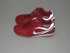NEW Mens NIKE AIR ZOOM COOP V Metal Baseball Cleats Red/White/Silver  Size 8