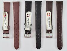My Swiss Imitation Leather Strap Smooth Pattern Watch Band Width 14 mm.
