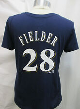 Milwaukee Brewers Women Large #28 Prince Fielder T-Shirt MLB Majestic A14MLF