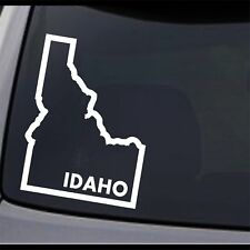 (2x) Idaho State Map ID Home State Outline USA Pride Vinyl Decal Sticker
