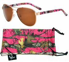Hornz Pink & Hot Pink Camouflage Polarized Aviator Sunglasses Camo HZ98025-32