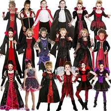 Deluxe Vampire Vampiress Queen Fairy Gothic Halloween Kids Fancy Dress Costume
