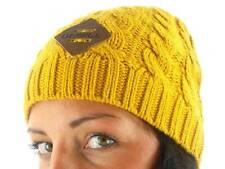O'Neill Knitted cap Beanie Winter cap Classic Cable yellow plait pattern