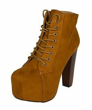 ROSA! Speed Limit 98 Women's Lace Up High Chunky Heel Platform Ankle Bootie
