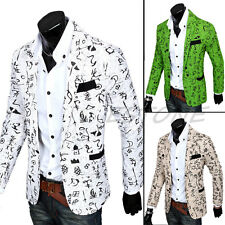 Stylish Mens Casual Slim Fit three Buttons Suit Blazer Coat Jacket Outwear