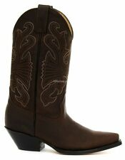 Grinders Classic Men's Buffalo Brown Real Leather Calf Boot Cowboy Western Boots