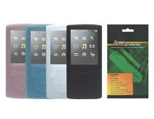 Soft Skin Cover Case and Screen Protector for Sony Walkman NWZ E353 / NWZ-E354