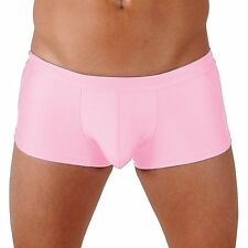 Mens Red Classic Trunk Boxer Swimsuit with Front Pouch by Gary Majdell Sport
