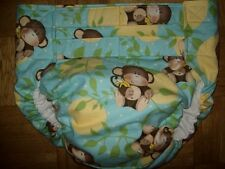 Dependeco All In One flannel adult baby diaper S/M/L/XL  (little monkey)
