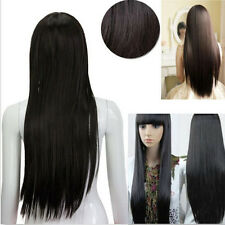 Sexy Straight Long Full Wigs Women Lady Fashion Cosplay Party Black Or Brown+Cap