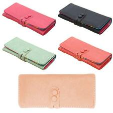 Women Soft Faux Leather Coin Purse Wallet Candy Color Clutch Card Holder SJ9C