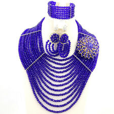 Choker Woman Necklace Big 2015,Nigerian Wedding African Beads Jewelry Crystal