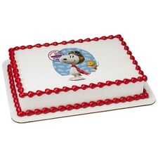 Peanuts Snoopy Movie Licensed Frosting Sheet Cake Topper ~ Edible Image ~ D37420