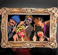 Box 51 Photo Bomb Booth Large Picture Frame 24 Props Set Fun Silly Party Faces