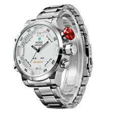Luxury Silver Men's Automatic Mechanical Date Day Sport Analog Wrist Watch