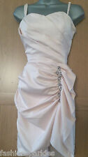 BNWT LIPSY Baby Soft Orchid Pink Satin Drape Diamante Bustier Dress 8 or 10 £75