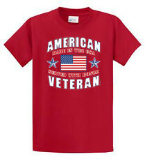 American Vet Port & Co Printed Tee Shirts Mens Regular and Big and Tall Sizes