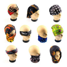 Head Face Neck Mask Multi Wear Cotton Tube Bandana Durag Biker Scarf