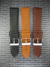Classic 22mm Calf Leather Strap Thin Light Padding Watch Band LONGINES II