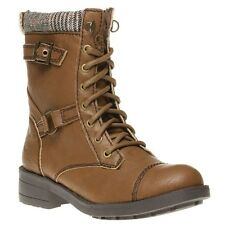 New Womens Rocket Dog Tan Thunder Synthetic Boots Ankle Lace Up